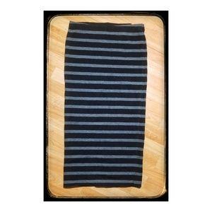 Women's Express black & grey midi pencil skirt